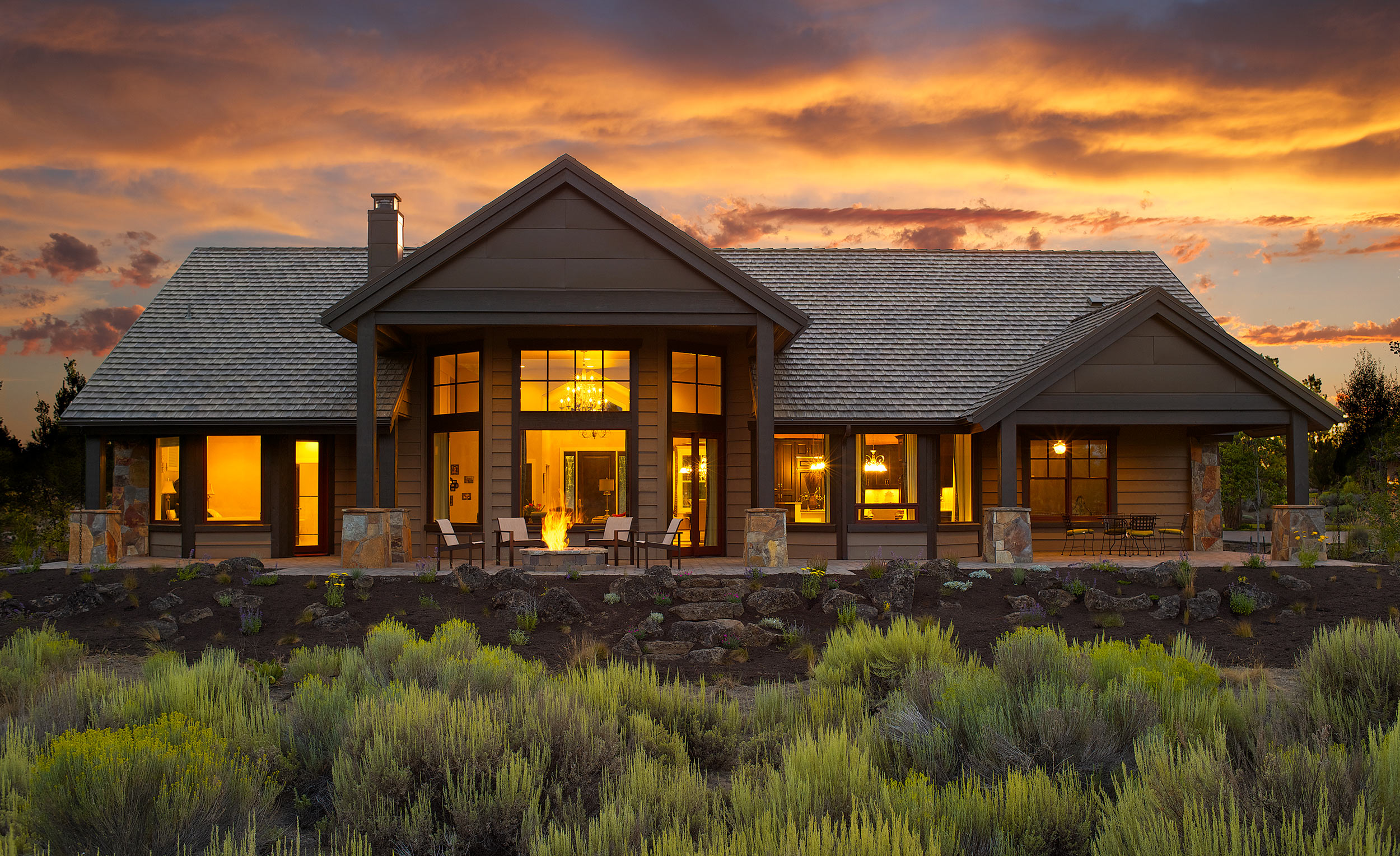 Architectural-Home-Photography-Pronghorn-Sunset