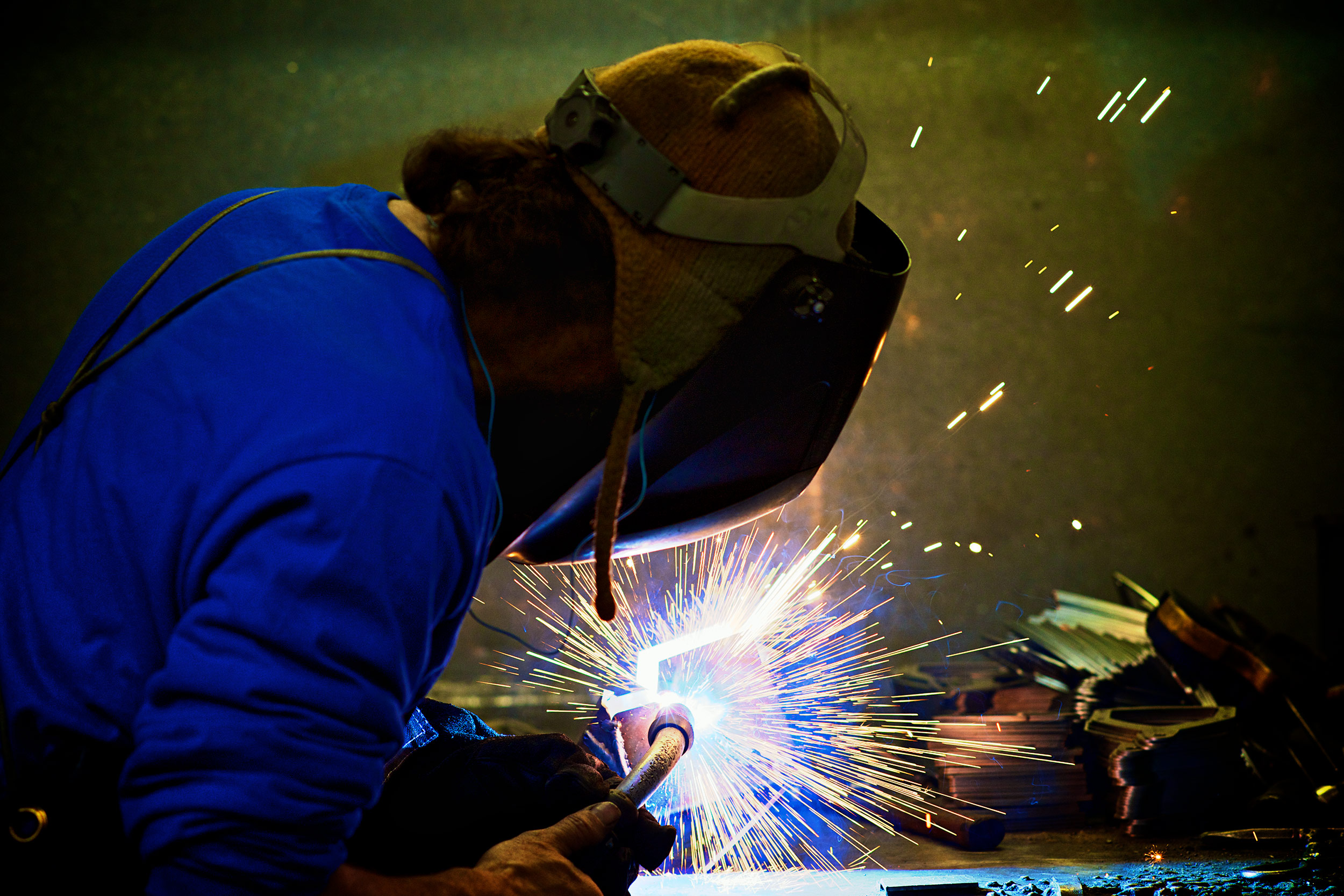 Industrial-Photographer-Welder-Sparks