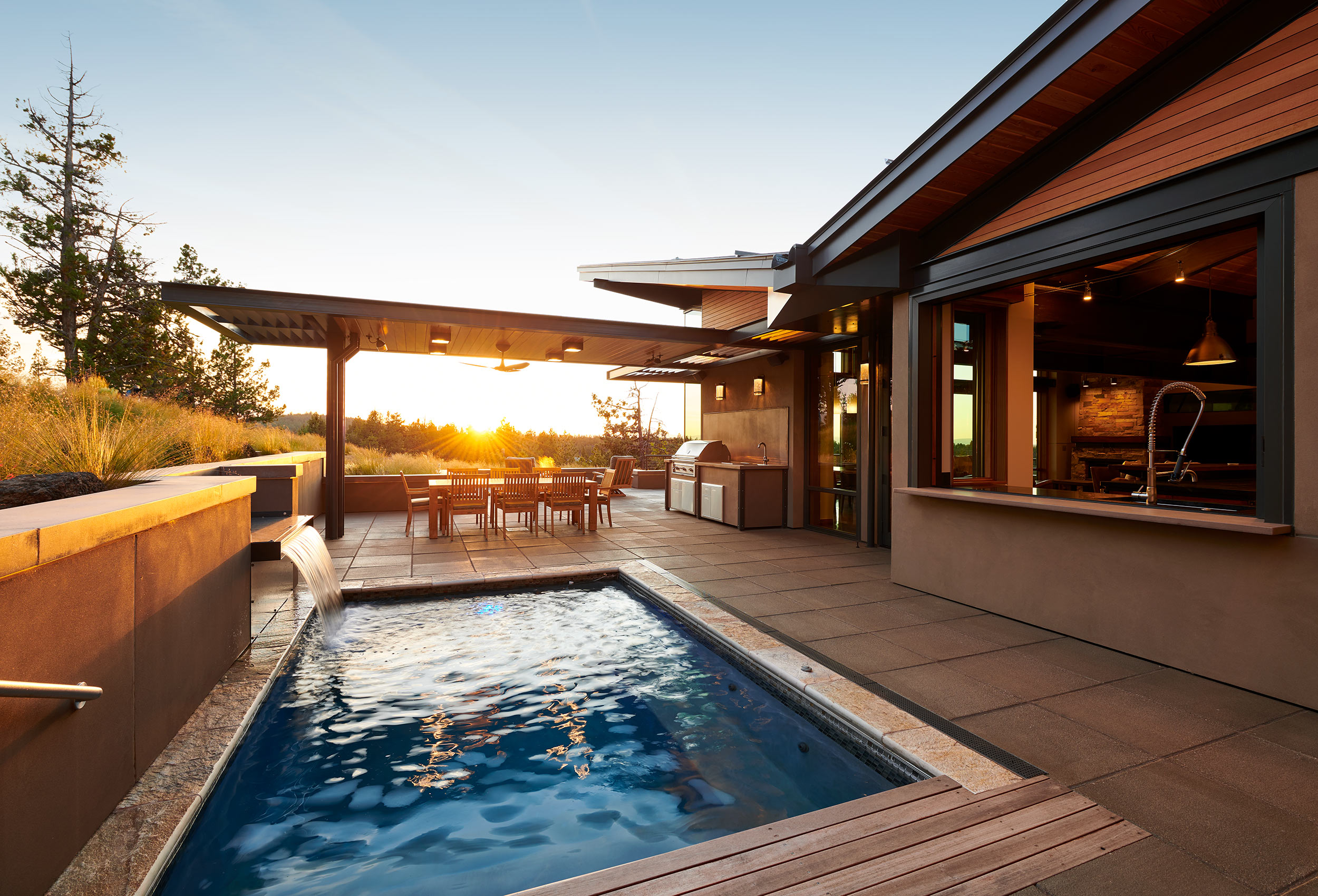 Architectural-Home-Photography-Pool-Sunset